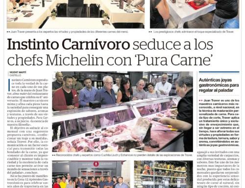 Noticias en el Periódico Mediterráneo sobre el evento gastronómico celebrado en el pasado 26 de Junio