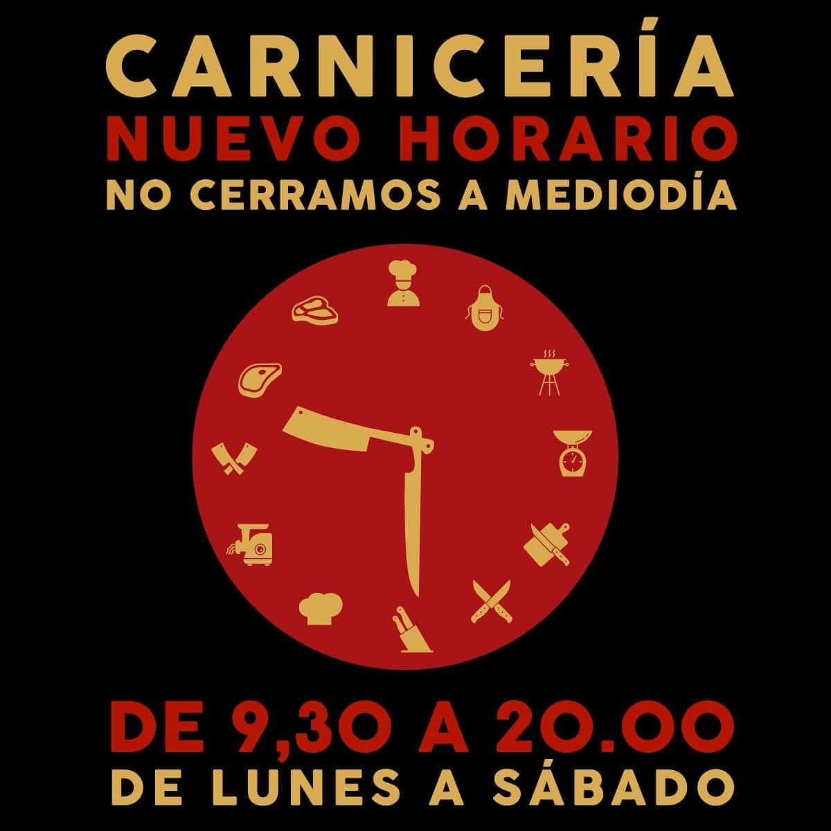Nuevo Horario Carnicería Instinto Carnívoro